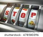 stop gambling addiction concept.... | Shutterstock . vector #678580396