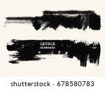 vector set of black brush... | Shutterstock .eps vector #678580783