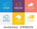 animals logo set. vector... | Shutterstock .eps vector #678582256