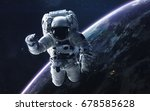 astronaut. abstract space... | Shutterstock . vector #678585628