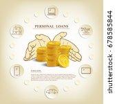 personal loans illustration... | Shutterstock .eps vector #678585844