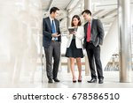 group of business people... | Shutterstock . vector #678586510
