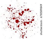 abstract splatter red color...   Shutterstock .eps vector #678589849
