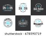 spa salon logo design. vector... | Shutterstock .eps vector #678590719