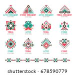 native tribal pattern set.... | Shutterstock .eps vector #678590779