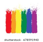 lgbt  gay and lesbian pride...   Shutterstock .eps vector #678591940