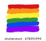 rainbow texture  symbol of gay...   Shutterstock .eps vector #678591994