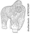 raster coloring gorilla for... | Shutterstock . vector #678592369