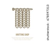 knitting vector icon in modern... | Shutterstock .eps vector #678597313