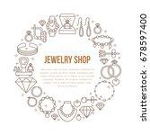 jewelry shop  diamond...   Shutterstock .eps vector #678597400