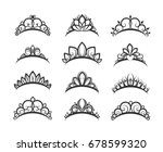 Vector Tiara Set. Beautiful...