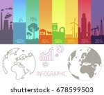 infographic poster with... | Shutterstock .eps vector #678599503