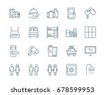 hostel and hotel vector icons... | Shutterstock .eps vector #678599953