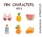 fun vector characters isolated... | Shutterstock .eps vector #678602119