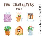 fun vector characters isolated... | Shutterstock .eps vector #678602158