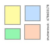 blank postage stamps set on... | Shutterstock .eps vector #678603178