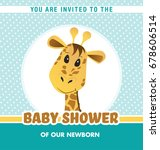 baby shower invitation card... | Shutterstock .eps vector #678606514