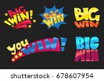 set of bright funky colorful... | Shutterstock .eps vector #678607954