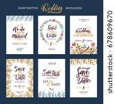 invitation cards for wedding... | Shutterstock .eps vector #678609670