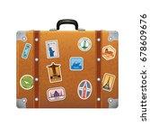 Travel Stickers On Retro...