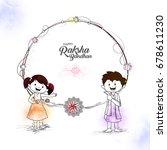 line art illustration of cute... | Shutterstock .eps vector #678611230