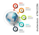 vector infographics global...   Shutterstock .eps vector #678612286