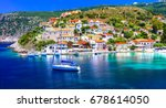 amazing greece series  ... | Shutterstock . vector #678614050