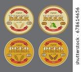 beer mat templates. raster copy.   Shutterstock . vector #678614656