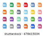 documents file format icon flat | Shutterstock .eps vector #678615034