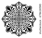 mandalas for coloring book.... | Shutterstock .eps vector #678618580