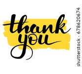 hand written lettering thank... | Shutterstock .eps vector #678620674