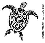 maori ethnic style turtle tattoo | Shutterstock .eps vector #678622150