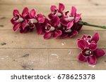 floral arrangement with pink... | Shutterstock . vector #678625378