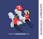 vector illustration of friends... | Shutterstock .eps vector #678626293