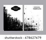 grunge black and white distress ...   Shutterstock .eps vector #678627679