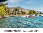 locarno lakeside  situated on... | Shutterstock . vector #678631984