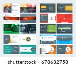 double sided business card... | Shutterstock .eps vector #678632758