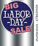 big labor day sale  colors red  ... | Shutterstock . vector #678635434