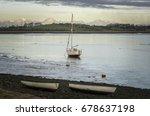 Sail Boat At Anchor Overton...