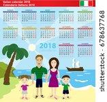 italian calendar 2018. vector...   Shutterstock .eps vector #678637768