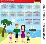 german calendar 2018. vector...   Shutterstock .eps vector #678637780