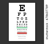 optical vision test vector... | Shutterstock .eps vector #678637789