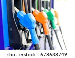 colorful petrol pump filling... | Shutterstock . vector #678638749