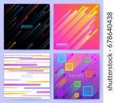 abstract trendy motion vector... | Shutterstock .eps vector #678640438