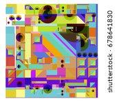 trendy geometrical vector... | Shutterstock .eps vector #678641830