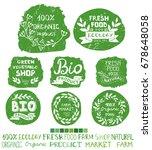 organic bio ecology natural... | Shutterstock . vector #678648058