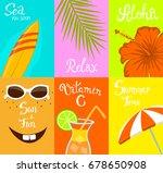 summer time beach travel card... | Shutterstock .eps vector #678650908