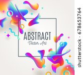 abstract background with fluid... | Shutterstock .eps vector #678653764