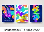 vector illustration. set of... | Shutterstock .eps vector #678653920