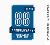 88 years anniversary design... | Shutterstock .eps vector #678653986